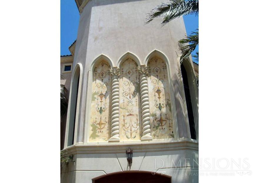 Exterior Venetian Plaster With Fresco Dimensions Plaster