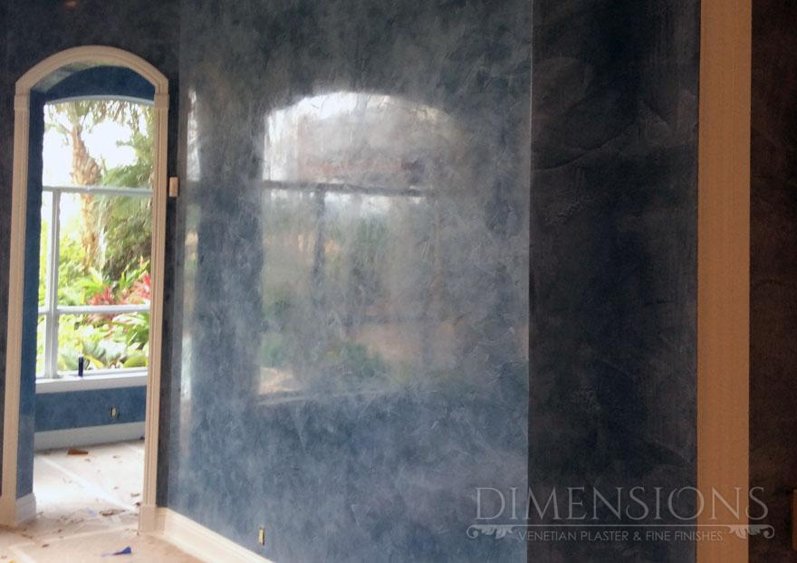 Exterior paint ideas stucco - Dark Blue Venetian Plaster Dimensions Plaster